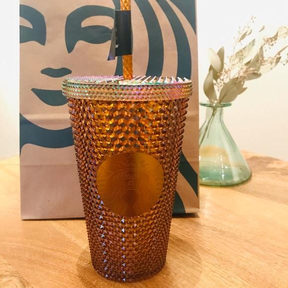 Starbucks 50th Anniversary Gold Metallic Tumbler
